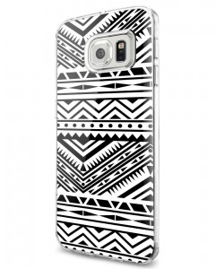 Tribal Black & White - Samsung Galaxy S7 Edge Carcasa Silicon