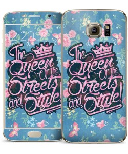 Queen of the Streets - Floral Blue - Samsung Galaxy S6 Skin