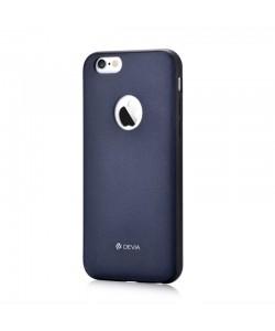 Original Leather Royal Blue - Devia iPhone 6 Plus Carcasa (piele naturala si margini flexibile)