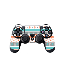 Orange & Blue - PS4 Dualshock Controller Skin