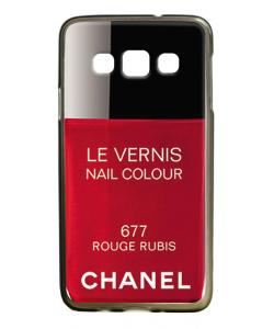 Chanel Rouge Rubis Nail Polish - Samsung Galaxy A3 Carcasa Silicon Premium