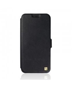 Just Must Slim - Huawei Y6 Husa Book Slim Neagra (silicon in interior)