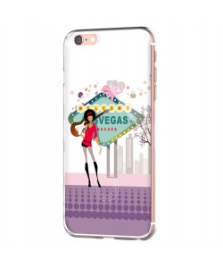 Vegas Music - iPhone 6 Carcasa Transparenta Silicon