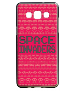 Space Invaders Red - Samsung Galaxy A5 Carcasa Silicon