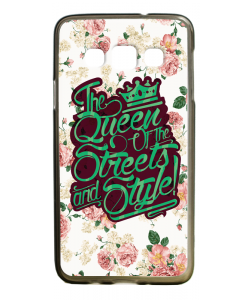 Queen of the Streets - Floral White - Samsung Galaxy A3 Carcasa Silicon Premium