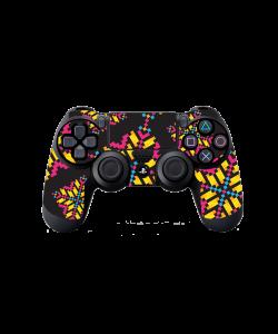 Negru - Auriu - Roz - PS4 Dualshock Controller Skin