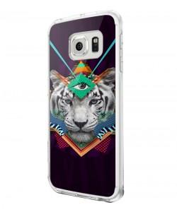 Eyes of the Tiger - Samsung Galaxy S6 Carcasa Plastic Premium