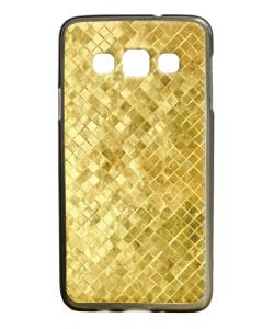 Squares - Samsung Galaxy A3 Carcasa Silicon Premium