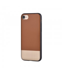 Devia Commander Brown - iPhone 7 / iPhone 8 Carcasa (protectie 360°, margini flexibile)