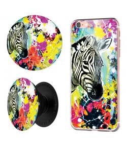 Combo Popsocket Zebra Splash
