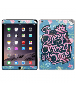 Queen of the Streets - Floral Blue - Apple iPad Air 2 Skin