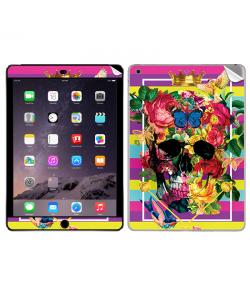 Floral Explosion Skull - Apple iPad Air 2 Skin