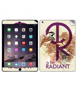 R is for Radiant - Apple iPad Air 2 Skin