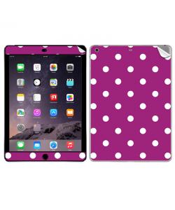 Purple White Dots - Apple iPad Air 2 Skin