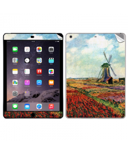 Claude Monet - Fields of Tulip With The Rijnsburg Windmill - Apple iPad Air 2 Skin