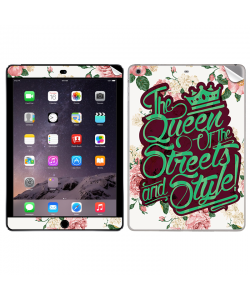 Queen of the Streets - Floral White - Apple iPad Air 2 Skin