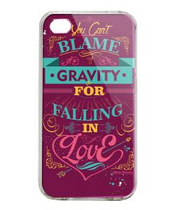 Falling in Love - iPhone 4/4S Carcasa Alba/Transparenta Plastic