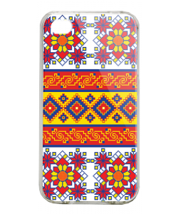 Brau - iPhone 4/4S Carcasa Alba/Transparenta Plastic