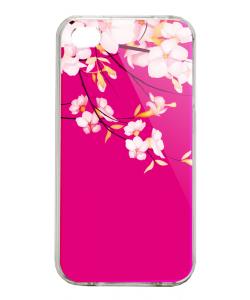 Cherry Blossom - iPhone 4/4S Carcasa Alba/Transparenta Plastic