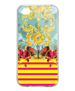 Butterfly Effect - iPhone 4/4S Carcasa Alba/Transparenta Plastic