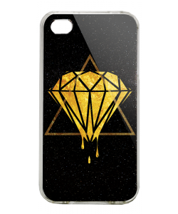 Diamond - iPhone 4/4S Carcasa Alba/Transparenta Plastic