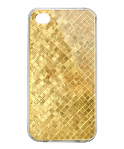 Squares - iPhone 4/4S Carcasa Alba/Transparenta Plastic