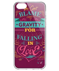 Falling in Love - iPhone 5/5S Carcasa Transparenta Plastic