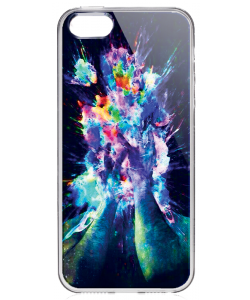 Explosive Thoughts - iPhone 5/5S/SE Carcasa Transparenta Silicon
