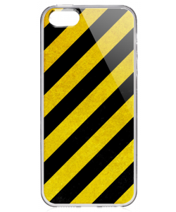 Caution - iPhone 5/5S Carcasa Transparenta Silicon