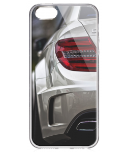 Mercedes C63 - iPhone 5/5S/SE Carcasa Transparenta Silicon