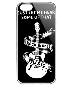 Rock & Roll - iPhone 5/5S Carcasa Transparenta Silicon