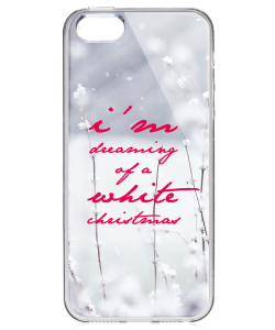 I'm Dreaming of a White Christmas - iPhone 5/5S Carcasa Transparenta Silicon