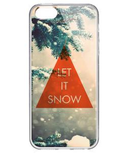 Let it Snow - iPhone 5/5S Carcasa Transparenta Silicon
