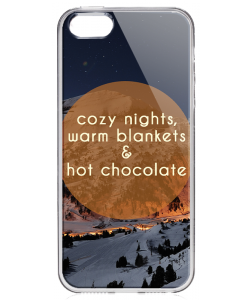 Cozy Nights - iPhone 5/5S Carcasa Transparenta Silicon