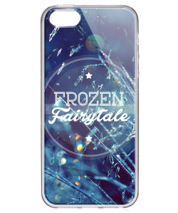 Frozen Fairytale - iPhone 5/5S Carcasa Transparenta Silicon