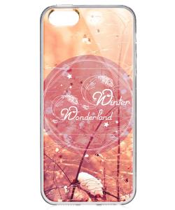 Winter Wonderland - iPhone 5/5S Carcasa Transparenta Silicon
