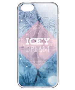 Icey Dream - iPhone 5/5S Carcasa Transparenta Silicon
