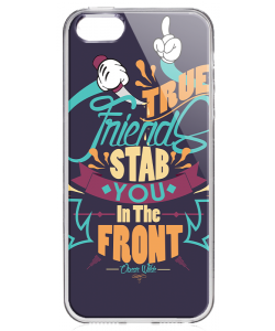 True Friends - iPhone 5/5S Carcasa Transparenta Silicon