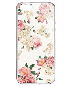 Peacefully Pink - iPhone 5/5S/SE Carcasa Transparenta Silicon