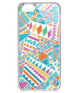 Scrambled Pattern - iPhone 5/5S/SE Carcasa Transparenta Silicon