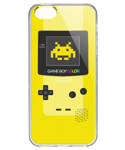 Gameboy Yellow - iPhone 5/5S/SE Carcasa Transparenta Silicon
