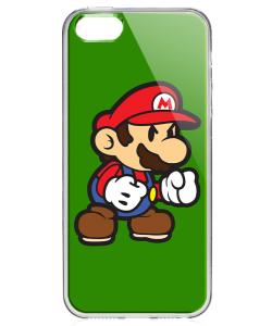 Mario One - iPhone 5/5S/SE Carcasa Transparenta Silicon