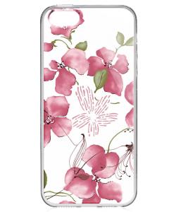 Delicate Petals - iPhone 5/5S/SE Carcasa Transparenta Silicon