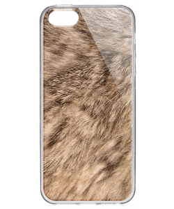 Rabbit Fur - iPhone 5/5S/SE Carcasa Transparenta Silicon