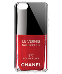 Chanel Rouge Rubis Nail Polish - iPhone 5/5S/SE Carcasa Transparenta Silicon