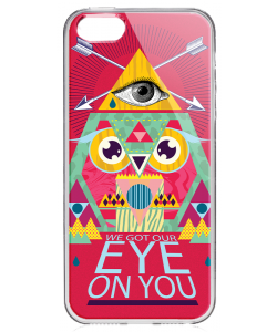 We Got Our Eye on You - iPhone 5/5S/SE Carcasa Transparenta Silicon