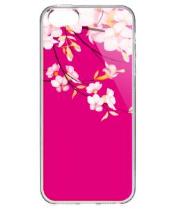 Cherry Blossom - iPhone 5/5S Carcasa Transparenta Plastic