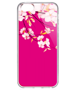 Cherry Blossom - iPhone 5/5S/SE Carcasa Transparenta Silicon