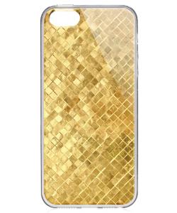 Squares - iPhone 5/5S Carcasa Transparenta Plastic