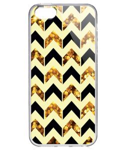 Black & Gold - iPhone 5/5S Carcasa Transparenta Plastic